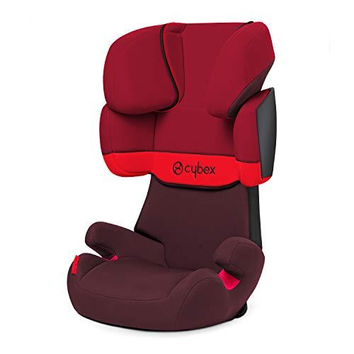 Cybex Silver Solution X-Fix, Seggiolino Auto per Bambini, Gruppo 2/3/15-36 kg, da 3 fino a 12 Anni Circa, senza ISOFIX, Rosso/Red/Rumba Red