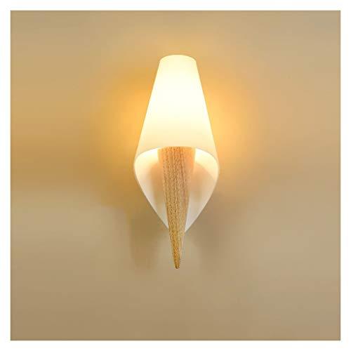 Wall Light. Lámpara de Pared, Personalidad Creativa de Madera Maciza de Hierro Forjado con el Interruptor de cabecera del Dormitorio Estudio Roble Nórdico la lámpara de Pared