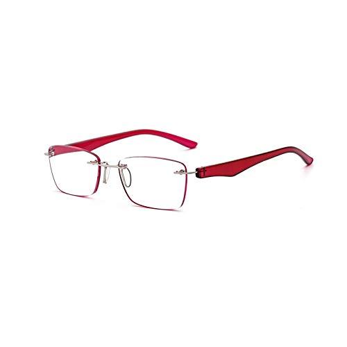 Suertree Rahmenlos Lesebrille Ultraleicht Brille Lesehilfe Sehhilfe Harzlinsen Presbyopie Korrektur 1PC 3.50x BM112