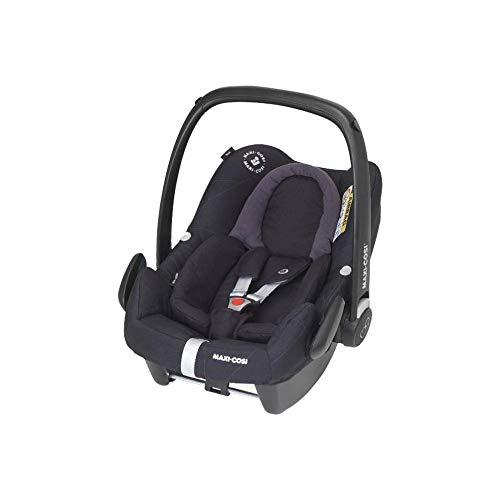 Maxi-Cosi Rock - Silla infantil para coche (grupo 0+, 0-13 kg, 0-12 meses), varios colores negro (brillantes) Talla:Gruppe 0+ (0-13 kg)