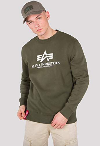 Alpha Herren 178302 257 Sweatshirt, Dunkelgrün, Medium