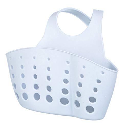 Babysbreath17 Plástico PVC Colgante Ajustable Cestas del almacenaje del Fregadero sostenedor de la Esponja de jabón de Organización de la Cocina marrón
