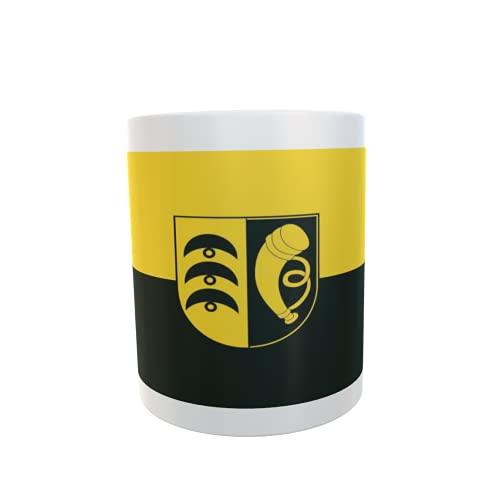 U24 Tasse Kaffeebecher Mug Cup Flagge Blaustein