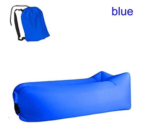AHJSN Light Schlafsack wasserdichte Aufblasbare Tasche Lazy Sofa Taschen Air Bed Adult Strand Lounge Chair Schnell FaltenBlau