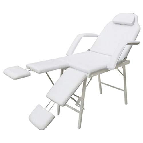Sillón de podología altura del asiento 70cm blanco crema reclinable y plegable para uso a una vida