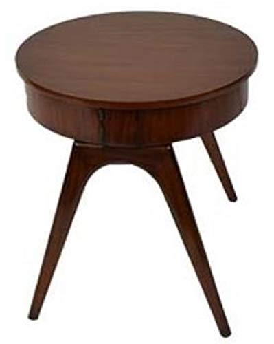 Casa Padrino side table dark brown Ø 54 x H. 54 cm - Round Mahogany Table with 2 Drawers Quality