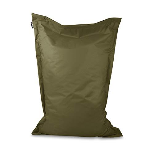 Sitzsack Bodenkissen Indoor Outdoor Riesensitzsack Größen & Farben wählbar Kinder Bean Bag Erwachsene Wasserabweisend Schmutzabweisend (Khaki-150x100 cm)