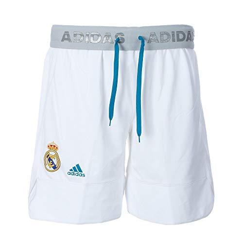 adidas RM Pantalón Corto Línea Real Madrid FC, Hombre, Blanco, 2XL