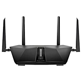 Netgear Nighthawk AX6 6-Stream AX4300 WiFi 6 Router (RAX45-100NAS) 9 Next-generation WiFi 6 (802.11ax) Technology for the Increasing Demand for Wireless Connectivity High-performance WiFi 6 Smart Homes with 20 Devices, 4x Faster Speeds than 11ac Ideal for the Growing Smart Home with Many Connected Devices or Family Members