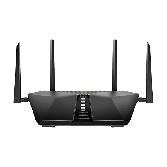 Netgear Nighthawk AX6 6-Stream AX4300 WiFi 6 Router (RAX45-100NAS) 1 Next-generation WiFi 6 (802.11ax) Technology for the Increasing Demand for Wireless Connectivity High-performance WiFi 6 Smart Homes with 20 Devices, 4x Faster Speeds than 11ac Ideal for the Growing Smart Home with Many Connected Devices or Family Members