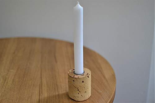 Kerzenhalter aus Ziegel für Stabkerze oder Stilkerze