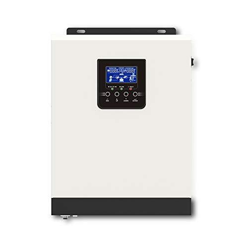 GNY 3KVA / 2400W Onda sinusoidal Pura Hybrid Off Off Inverter Solar PWM 50A Controlador de Cargador Solar 24V 220V Inversor de Carga de la batería (Color : 3000VA 24V, Input Voltage : 24V)