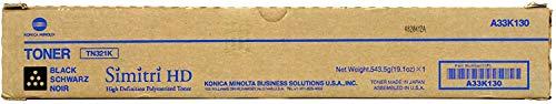 Konica Minolta TN-321K A33K130 Bizhub C224 C284 C364 Toner Cartridge (Black) in Retail Packaging