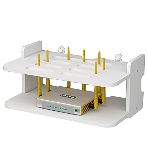 Baldas flotantes Rack De Enrutador Caja De Enrutador Montada En La Pared Rack De Decodificador De Sala De Estar Caja De Clasificación De Cables Sin Necesidad De Perforar La Instalación