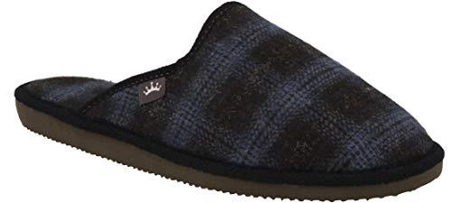 RBJ leather shoes .Herren Natur Wollfilz Pantoffeln für Wohlgefühl atmungsaktiv, natürlich, Handarbeit, Qualität Hausschuhe. (45 EU, Blau 828)