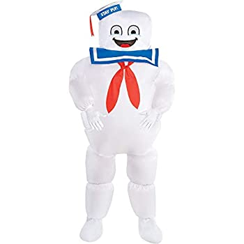 Party City Classic Inflatable Stay Puft Marshmallow Man Halloween Costume for Kids Ghostbusters Medium