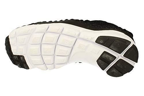 Nike Air Footscape NM Woven FK, Zapatillas de Running para Hombre, Negro (Black/Black/White 001), 45 EU