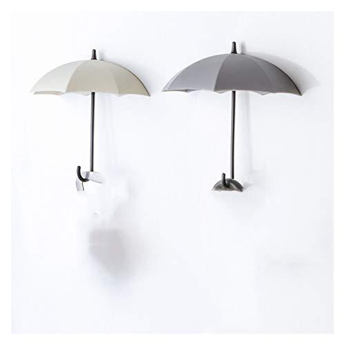 Dzw 3 Piezas/Conjunto de Ganchos de Paraguas Creativas en Forma de Paraguas, llaveros Coloridos, Perchas, Perchas, Ganchos de Pared, Cajas de Almacenamiento de Cocina, Accesorios de baño Perchas de