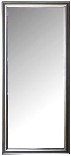 elbmöbel Spiegel 162 x 72 cm Wandspiegel Schlichter Rahmen (Silber)