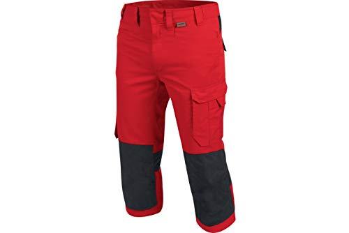 WÜRTH MODYF Piratenhose Cetus rot/anthrazit: Die widerstandsfähige 3/4-Hosen ist in der Größe 56 erhältlich. Die metallfreie und Bequeme Arbeitshose ist Industriewäsche geeignet.