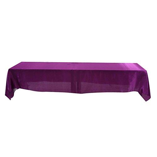 Banket tafelkleed, 145x320cm Rechthoekig tafelkleed Kreukbestendig tafelkleed Remium Duurzame vlek Vlekbestendig banket bruiloft decor (paars)