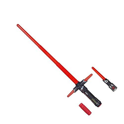 sookin Lightsaber Elettronica Retractable Darth Vader Star Wars Spada Laser Plastica Interazione Genitore-Figlio Regalo di Compleanno Natale Halloween Spada Laser Bacchette per Bambini Red