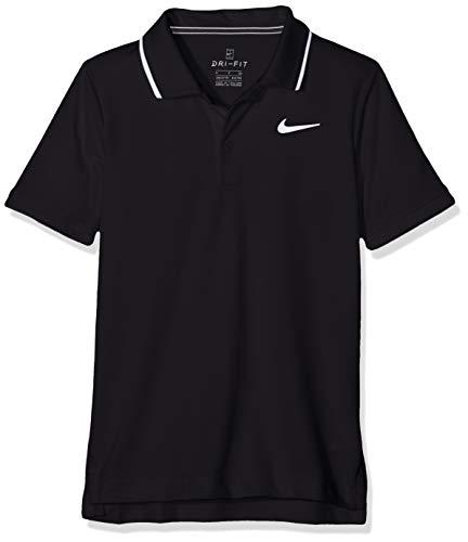 Nike Jungen B NKCT Dry Team Polo Shirt, Black/White, XS