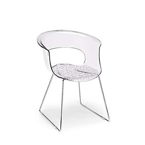 Scab Set 2 Design Miss B Antishock Chaise Pied traîneau Transparent
