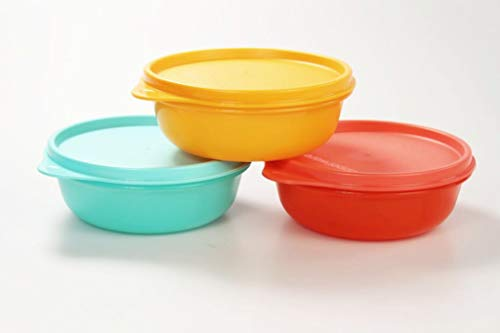 Tupperware Astral 300ml Rojo + Turquesa + Naranja 36630