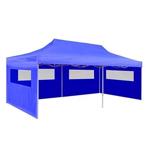 Carpa Plegable para Fiestas, Toldo de Boda protección UV, impermeable, , fiesta, patio, exterior, para eventos deportivos, picnic, camping, azul, 3 x 6 m