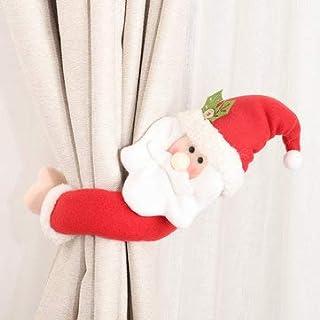 TuToy Julgardin hallshållare spänne jultomte snögubbe älg jul hem dekorationer – typ 2