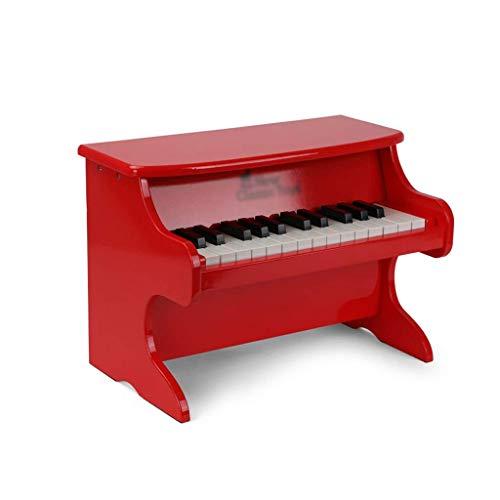 WOHAO Digital-Piano Kinderspielzeug Klavier Früherziehung Puzzle Aufklärung 25 Tasten Toy Electric Piano Mechanische Klavier-Musik-Spielzeug (Farbe: Schwarz) (Color : Red)