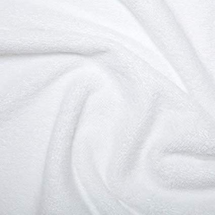 Kadusi Tela de rizo color blanco para toallas, albornoces, baberos. Se vende por metros. Ancho: 160 cm