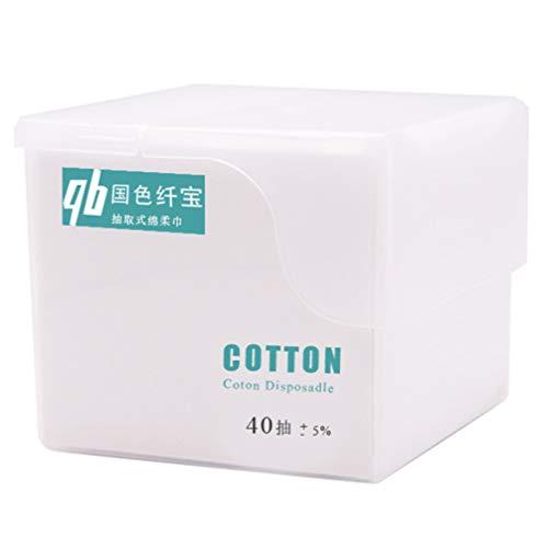 PRETYZOOM 1 Boîte / 40 Pcs Serviettes Jetables pour Le Visage Utiles Coton Serviettes pour Le Visage Gant de Toilette Serviette de Nettoyage pour Le Voyage à Domicile