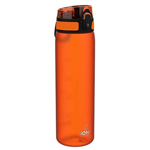 ion8 auslaufsichere Schlanke Wasserflasche/Trinkflasche, BPA-Frei, 500ml / 18oz,Orange