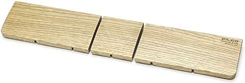 FILCO Genuine ウッドリストレスト 分離型(3分割) Lサイズ〔幅435mm〕北海道産天然木使用 オスモカラー仕上げ 日本製 ブラウン FGWR/L3
