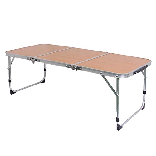 AOIWE Mesa plegable al aire libre Tri-fold y sillas de aleación de aluminio ligero portátil simple mesa de comedor