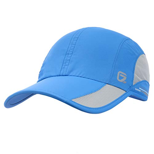 GADIEMKENSD Quick Dry Sports Hat Lightweight Breathable Soft Outdoor Run Cap (Classic up, Blue)