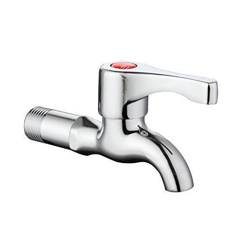 Electroplated copper alloy faucet   single cold   quick open small faucet   ceramic valve core lengthened mop pool faucet