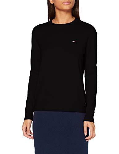 Tommy Hilfiger Damen Tjw Soft Touch Crew Sweater Pullover, Black, M