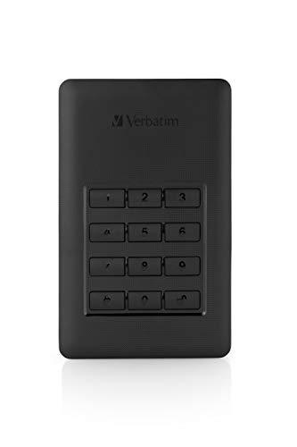 Verbatim Store 'n' Go Secure externe Festplatte - 2 TB mit USB 3.1 Typ-C und Passwortschutz durch Tastenfeld, schwarz