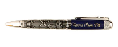 Personalized Engraved Masonic Embossed Ink Pen