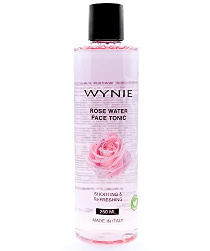 WYNIE Tónico Facial Limpiador Hidratante 100% Vegano, Enriquecido con Agua de Rosas y Ácido Hialurónico para Todo Tipo de Pieles, Piel Grasa, Mixta, Sensible - 250 ml