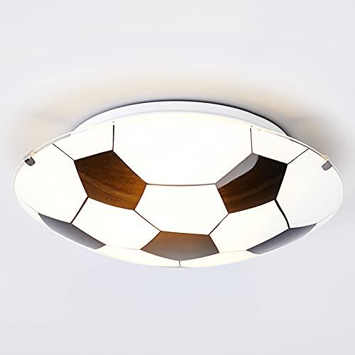 Lindby Fußball Deckenleuchte 'FUßBALL' (Modern) in Weiß aus Glas u.a. für Kinderzimmer (1 flammig, E27, A++) - Fußballdesign, Kinderlampe, Fußballlampe Kinder Deckenleuchte, Lampe, Kinderzimmerleuchte