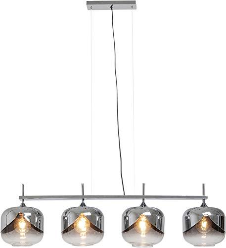 Kare hanglamp Chrome Goblet Quattro Ø25cm, goud