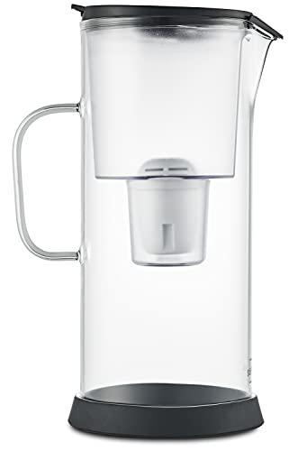 SILBERTHAL Jarra agua filtrada CRISTAL 2,7L   Jarra filtradora de agua grande   1 Filtro incluido