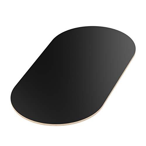 AUPROTEC Tischplatte 18mm schwarz 1200 mm x 500 mm ovale Multiplexplatte melaminbeschichtet von 40cm-200cm auswählbar Birken-Sperrholzplatten Massiv Holz Industriequalität Auswahl: 120x50 cm
