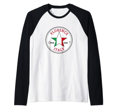 Florencia Toscana Italia turismo Italia recuerdo de vacaciones Camiseta Manga Raglan