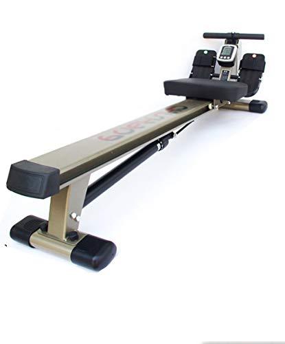 Rudergeräte Für Zuhause, Rowing Machine Rudergerät Klappbar Cardio Trainingsgerät Bauchtrainer, LCD-Monitor, 12 Einstellbarem Widerstand, Doppelrutsche, Maximale Belastung 150 kg