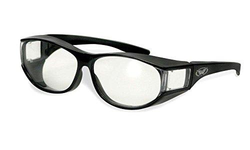 Global Vision - Gafas de sol - para hombre multicolor Matt-Black/Clear Medium